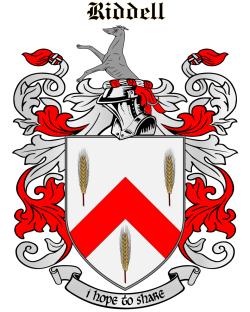 RIDDELL family crest